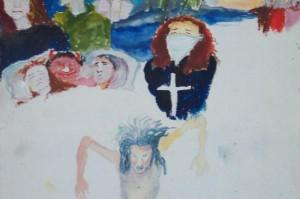 Painting M zwijgen